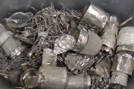 报废铂包不锈钢坩埚钳回收-「铂锭回收提纯」